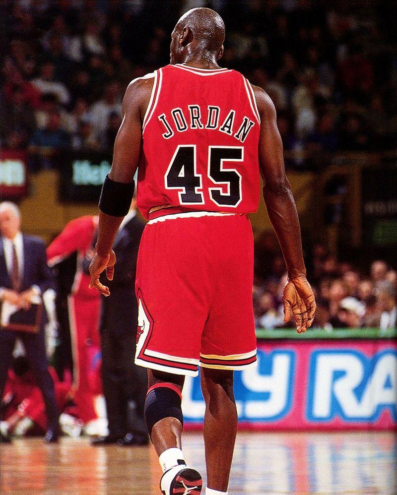 Number 45: Air Jordan. Michael wore