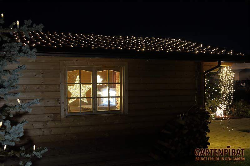 lichternetz 4x4 m auf dem dach zur deko an weihnachten weihnachtsbeleuchtung von. Black Bedroom Furniture Sets. Home Design Ideas