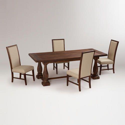 Rustic Java Greyson Fixed Dining Table | World Market