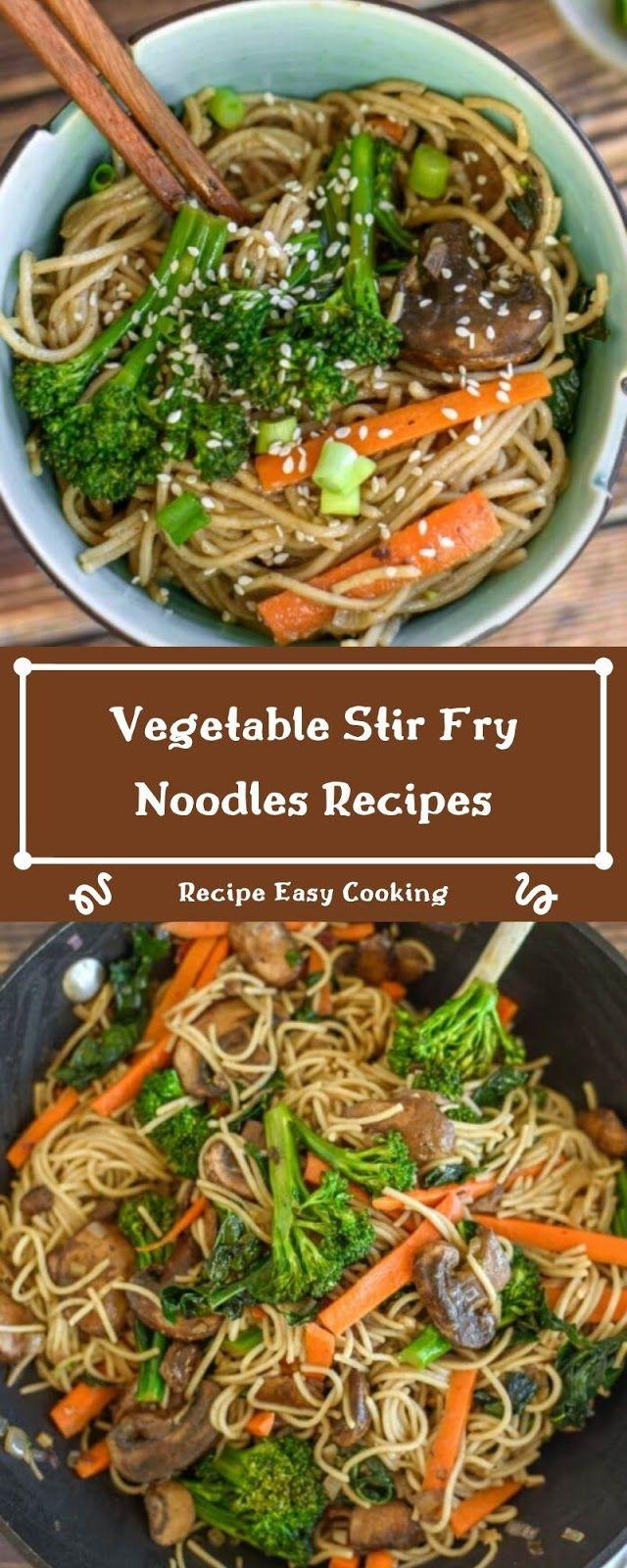 Photo of Vegetable Stir Fry Noodles Recipes