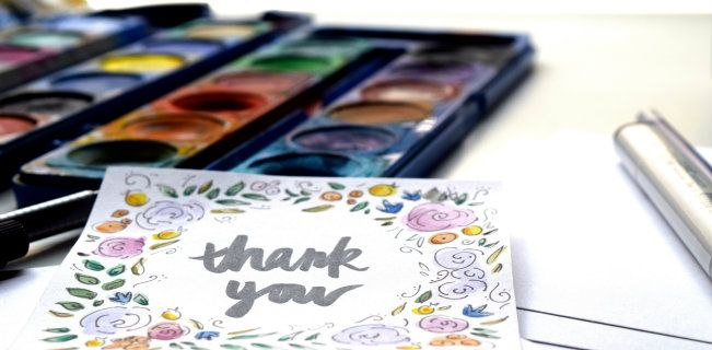 DIY: Perfect Thank-You Cards I'm sure Pammy wouldn't mind doing this with me when I've got free time to hang out!  I want to make it a habit of writing thank you notes, even for the smallest things!
