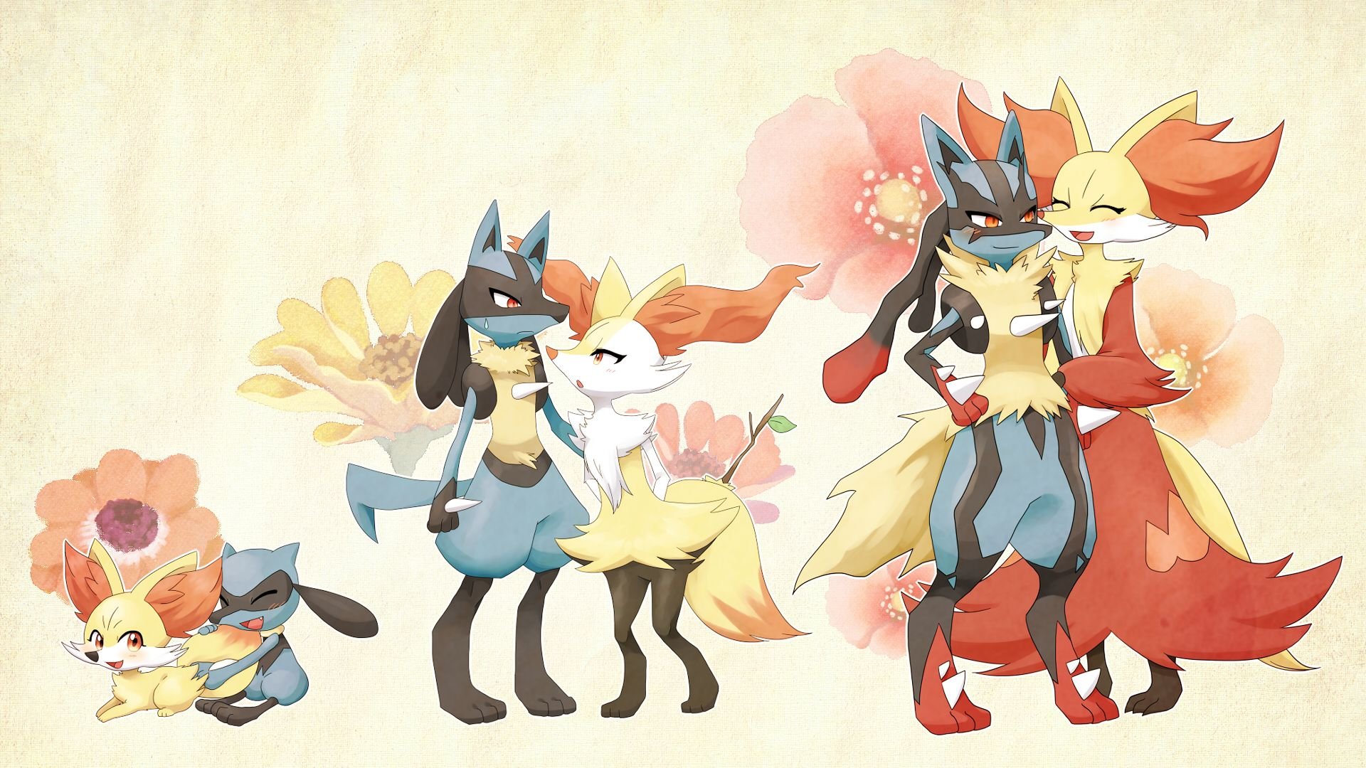 Fennekin and Riolu: Evolution Family | Chibi Pokémon ...