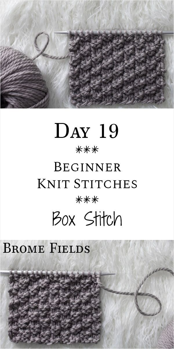 Photo of Box Knit Stitch : Day 19 of the 21 Days of Beginner Knit Stitches : Brome Fields…