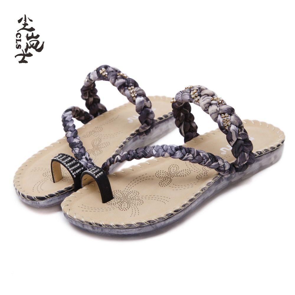Pearl Women Slippers Sandals de Mujer Flip Flops Comfort Flats Beach Wear Shoes Slippers Summer Glitter