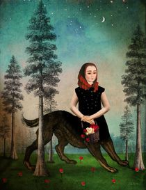 """Wer hat Angst vorm bösen Wolf?"" Graphic/Illustration by Catrin Welz-Stein buy now as poster, art print and greeting card.."