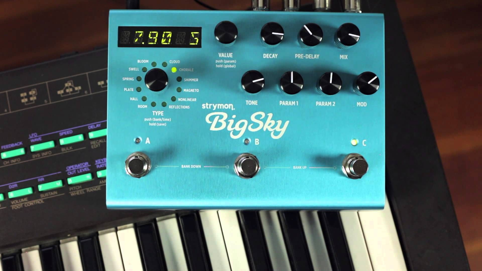 strymon bigsky reverb synth audio demo a little on the expensive