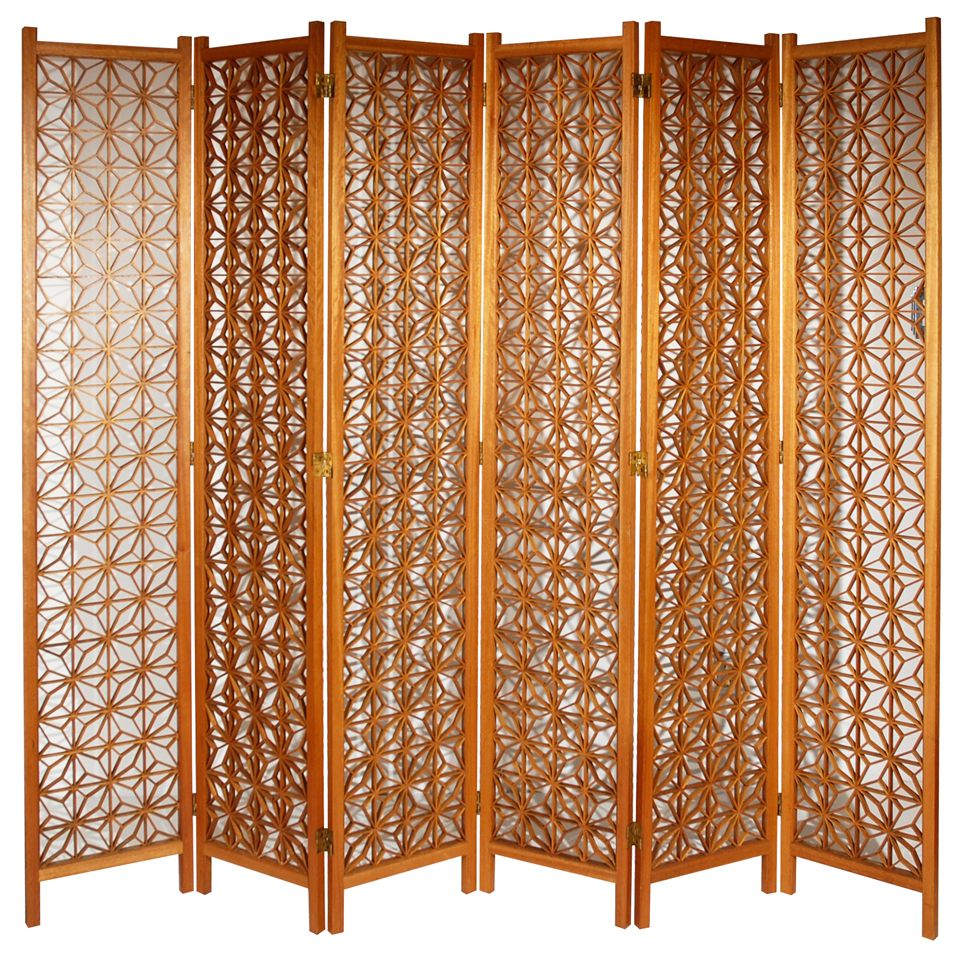 1stdibs Six Panel Mid Century Folding Screen Explore Items From