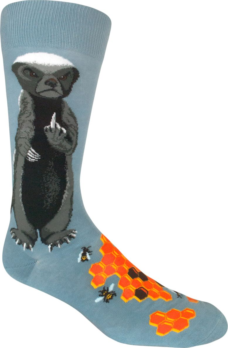 Honey Badger Men's Crew Socks in 2020 Crazy socks for