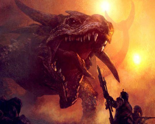 Krayt Dragon by Michael Komarck