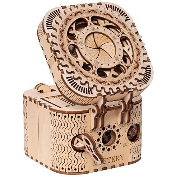 Rokr 3d Wooden Puzzle Treasure Box