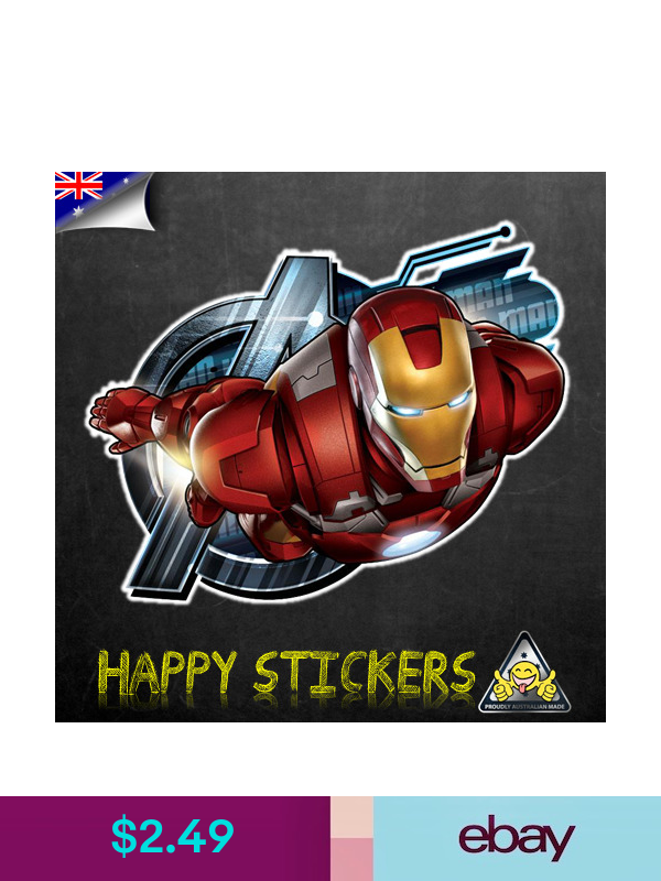 Stickers Flying Iron Man Avengers Luggage Skateboard Car Skateboard Vinyl Decal Sticker Ebay Lifestyle Happy Stickers Vinyl Decal Stickers Vinyl Decals