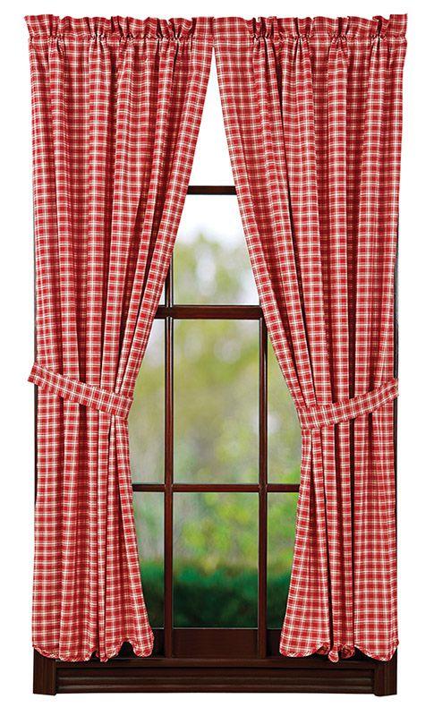 Breckenridge Lined Scalloped Short Curtain Panels 63 X 36