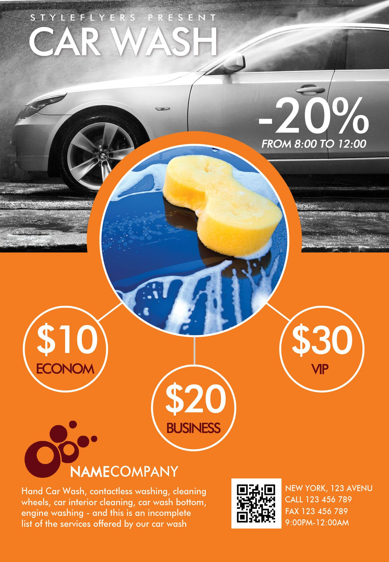 Downlosd our new premium flyer for your carwash promotion! #car ...
