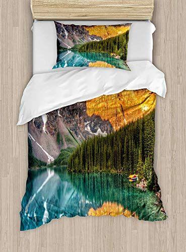 Big Buy Store Nature Duvet Cover Moraine Lake Canadian Mountain