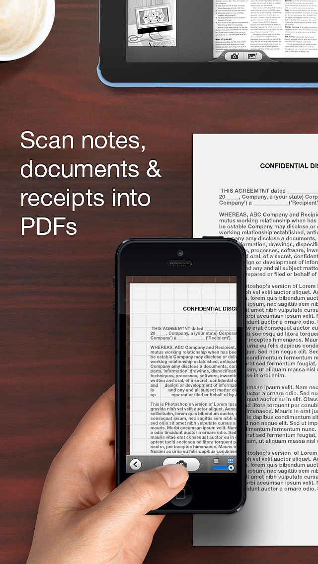 Scanner Pro transforms your iPhone and iPad into