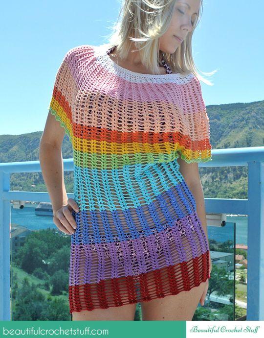 Angel Sleeve Crochet Tunic Free Pattern | Crochet sweaters ...