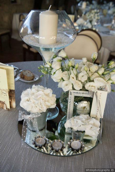 23 modi per illuminare il vostro banchetto usando le candele come centrotavola sedie - Centro tavola con candele ...