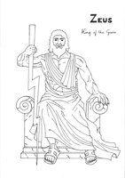 Zeus coloring page Greek God mythology Unit study by