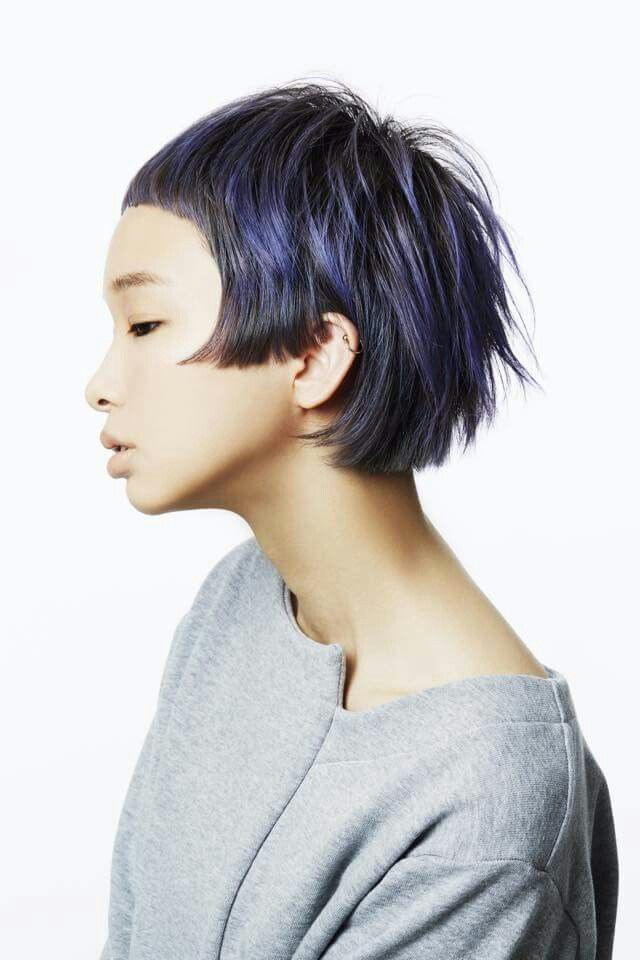bomb color and cut hair