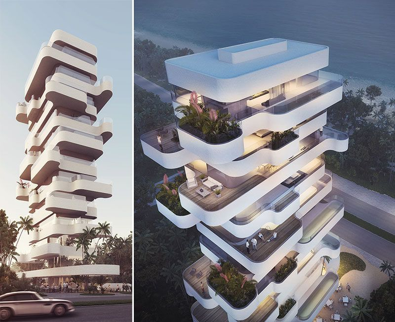 orange architects design a unique apartment tower overlooking the beach in limassol cyprus