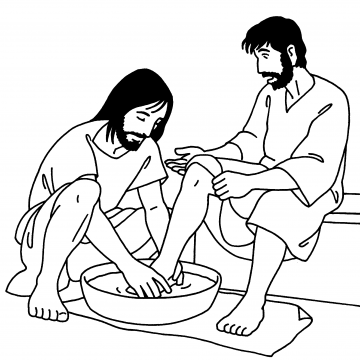 Jesus washes His disciples\' feet (John 13) | Lavement des pieds ...