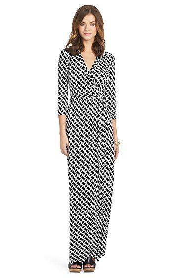 Diane von Furstenberg ABIGAIL LONG MAXI WRAP DRESS | Fabulous ...