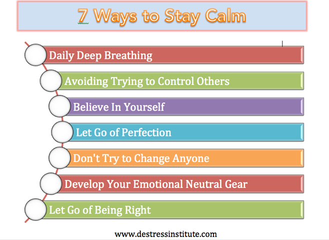 DeStress Institute: 7 Ways to Stay Calm