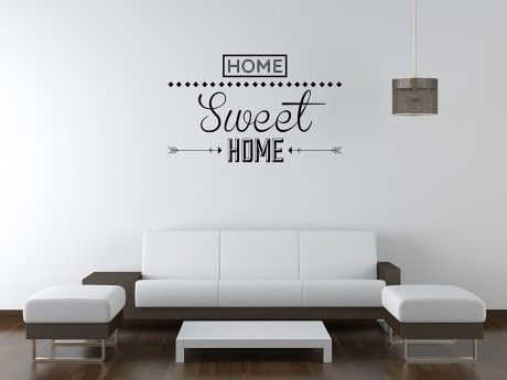 Home Sweet Home Wall Sticker     Www.peelze.com