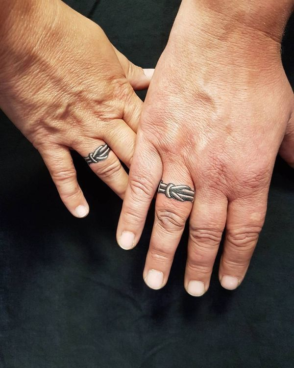 3d Wedding Ring Tattoos : wedding, tattoos, Elegant, Wedding, Tattoos, Finger, Tattoos,, Tattoo, Designs