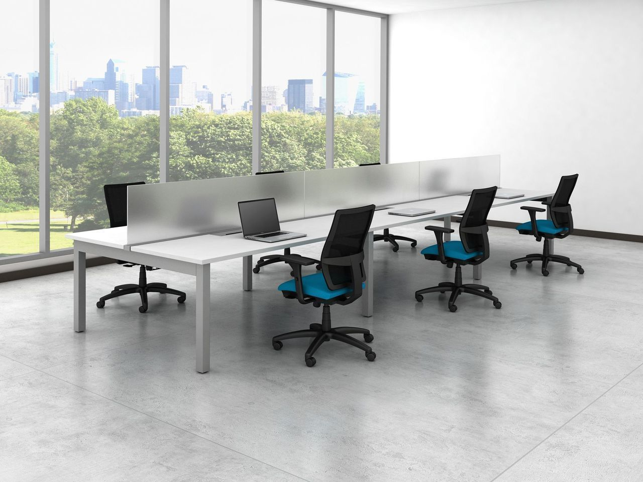 Oxygen Modern Collaborative Open Office Workstation/Desk/Table/Cubicle/Benching  | eBay