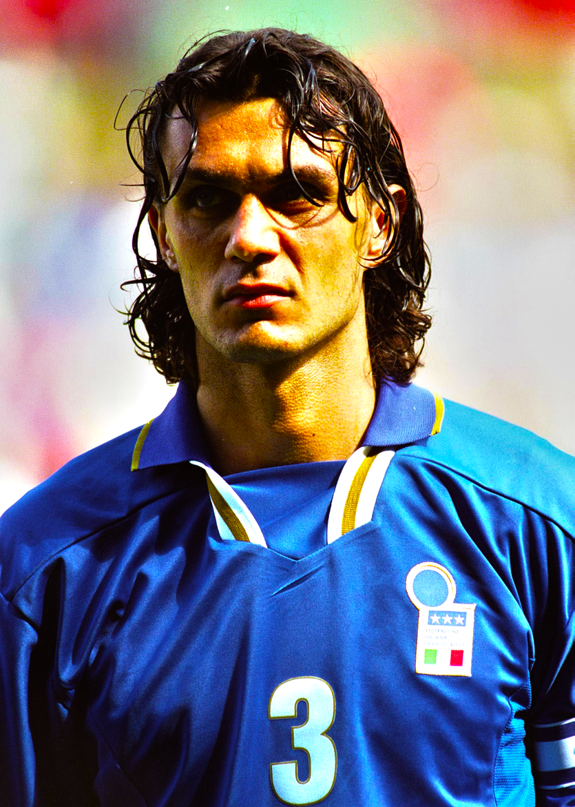 Portrait of Paolo Maldini of Italy before the International