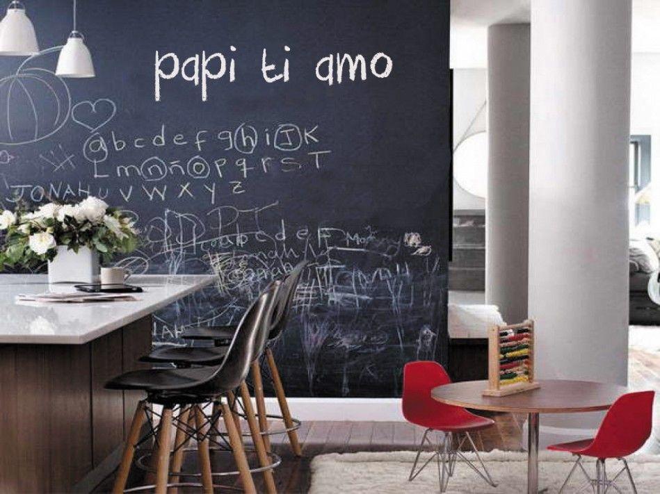 Fare Una Parete Di Lavagna : Decorare una parete con la pittura effetto lavagna esempi a