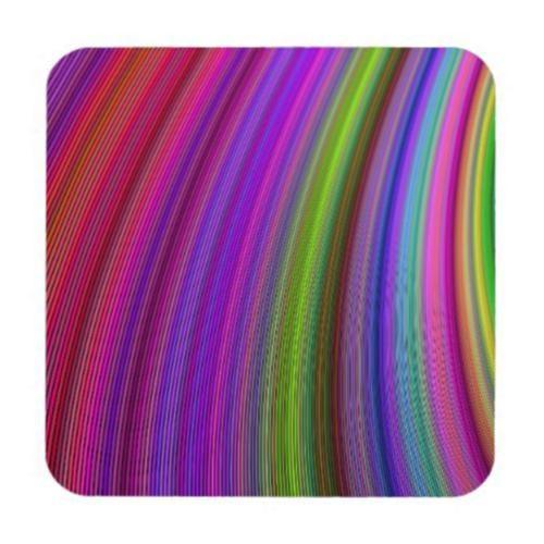 Happy spring stripes beverage coaster $29.80 *** Happy spring stripes - colorful curved stripe design - coaster