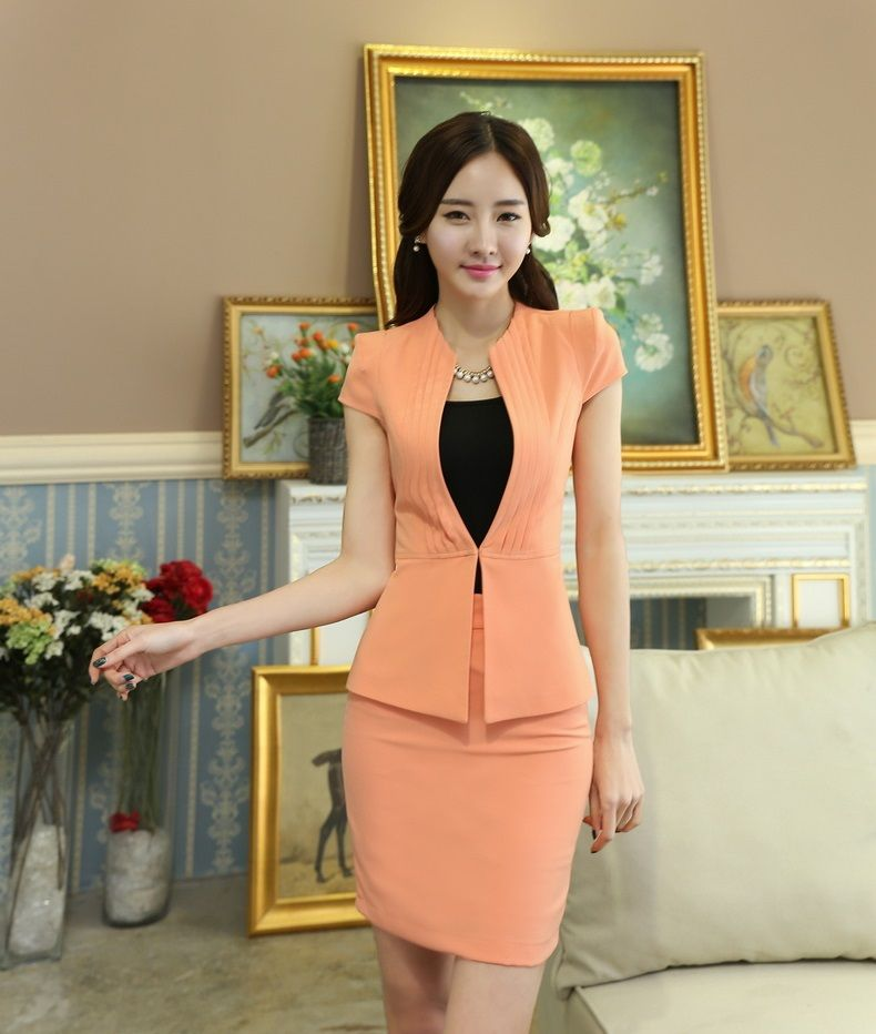 2e5aab4dc9 Office Uniform Designs Women Skirt Suits Blazer and Jacket Sets Slim  Elegant Formal Ladies Work Wear Suits OL Style