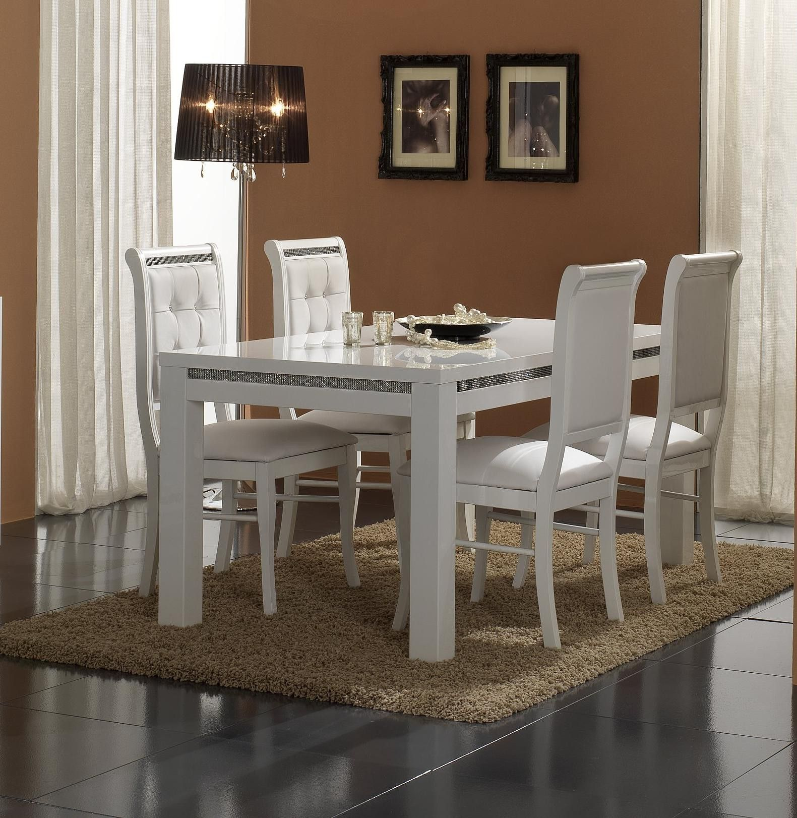 Redoutable Chaise Blanche De Salle A Manger White Dining Room Table Interior Design Dining Room Tiny Dining Rooms