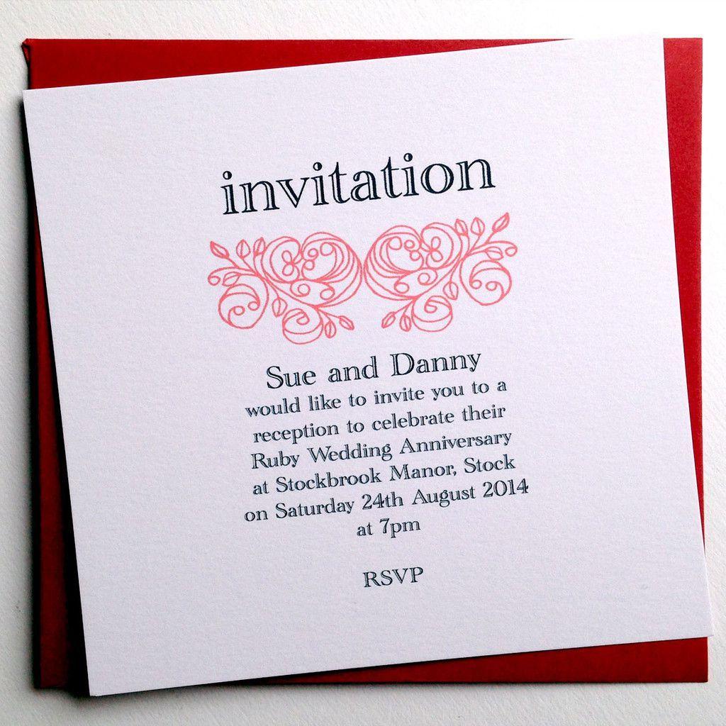 custom anniversary invitation cards | Invitations card template ...