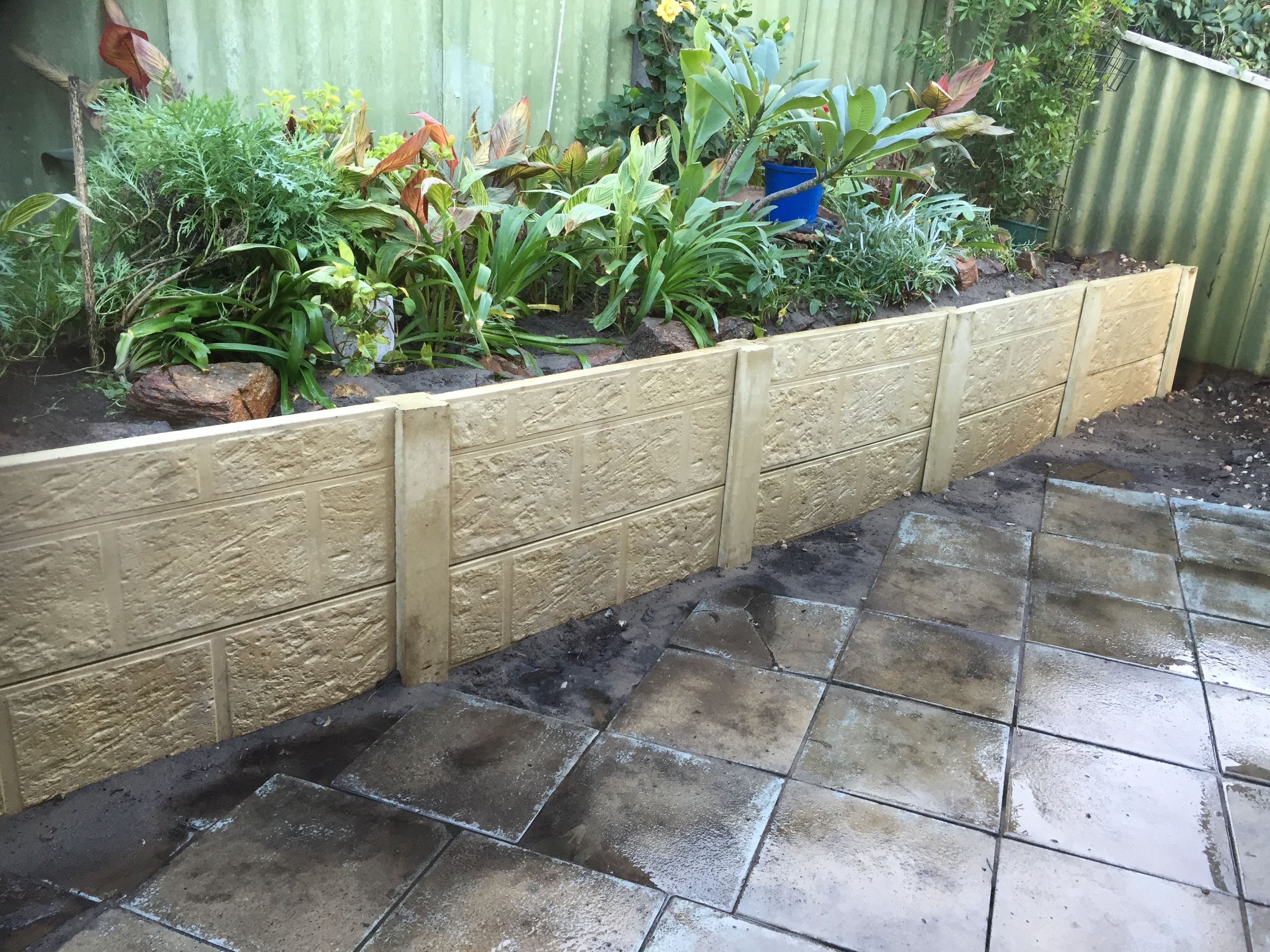 Panel and Post Retaining Walls in Perth | Retaining Walls ...