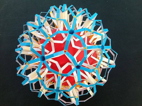 ...stretching hexagon rings in lattice.