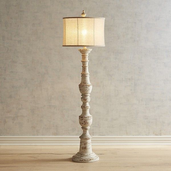 Pier 1 Floor Lamps Simple Pier 1 Imports Ashton Whitewashed Floor Lamp $199 ❤ Liked On Inspiration