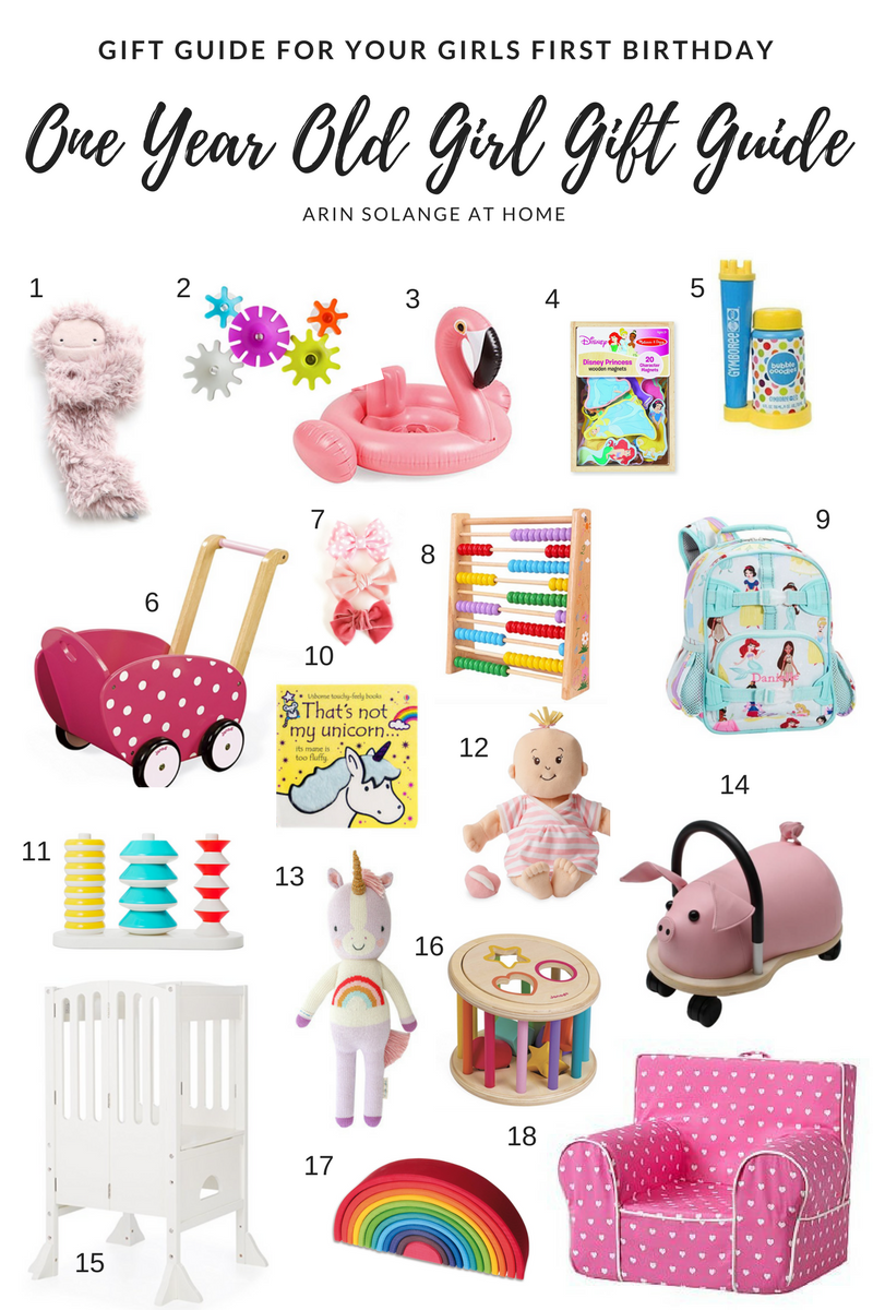 Shopping For Your Own One Year Old Or Buying A First Birthday Gift For Another O One Year Old Gift Ideas Baby S First Birthday Gifts First Birthday Gifts Girl