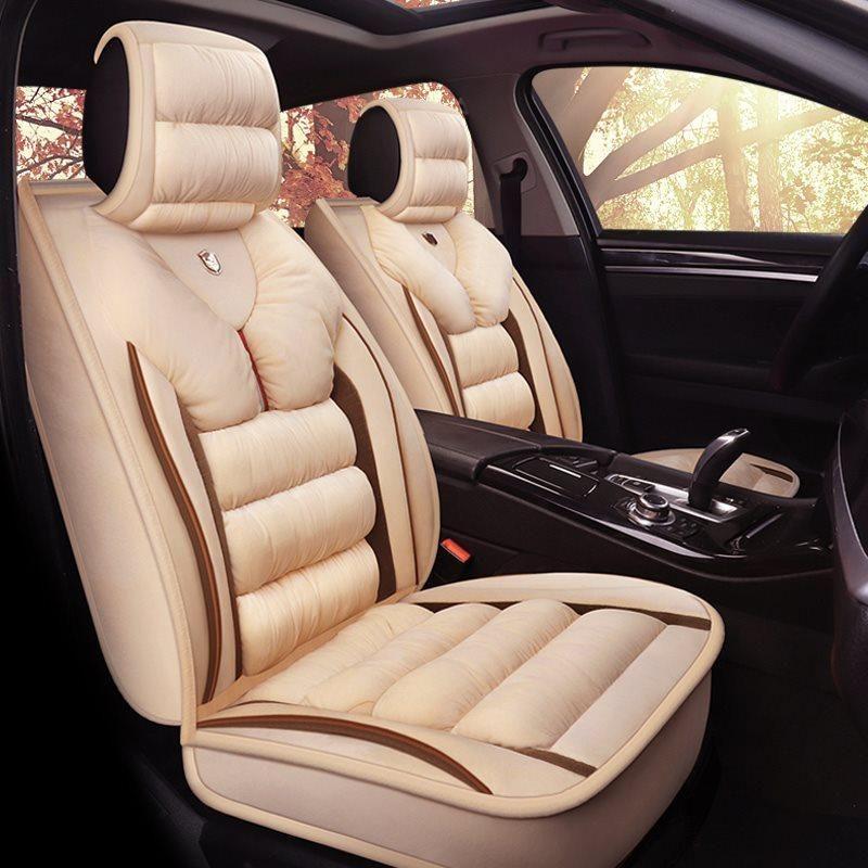 3d Shape Design Warm Material Suede Universal Fit Car Seat Covers Custom Car Interior Colorful Interiors Black Interior