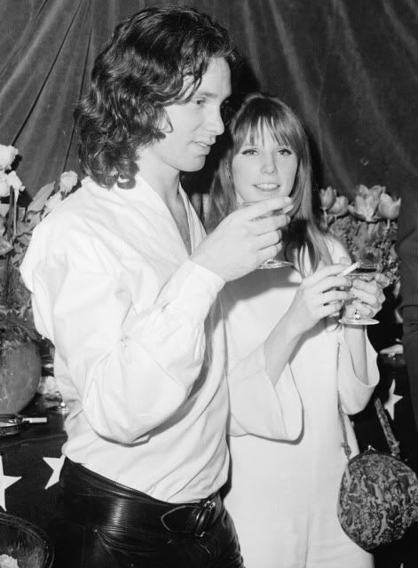 Jim Morrison and Pamela Courson at the premiere of Michael McClure's play The Beard.
