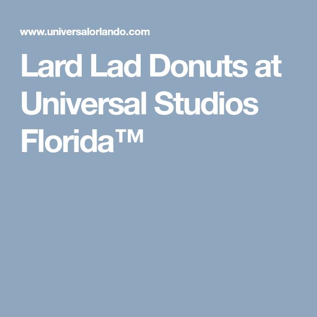 Lard Lad Donuts at Universal Studios Florida™ | Lard, Donuts