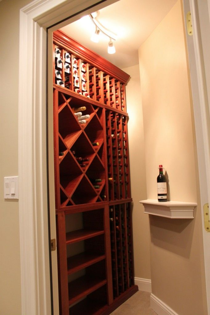 Custom Wine Cellar Doesn T Have To Break The Bank Wine Closet Diy Wine Cellar Custom Wine Cellars