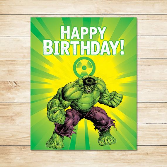 Printable Hulk Radiation Birthday Sign By