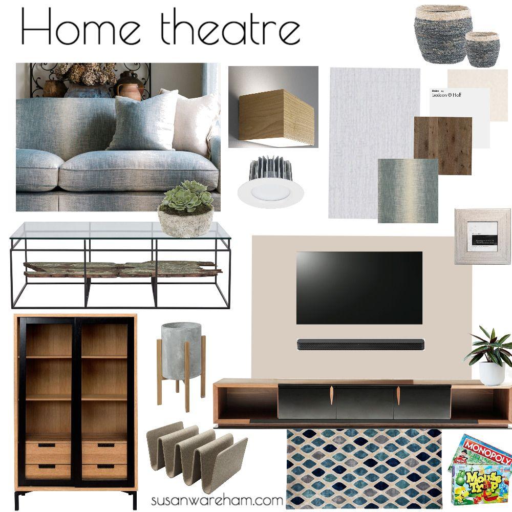 Home Theatre Renovation Sample Board Mood Board Interior Design