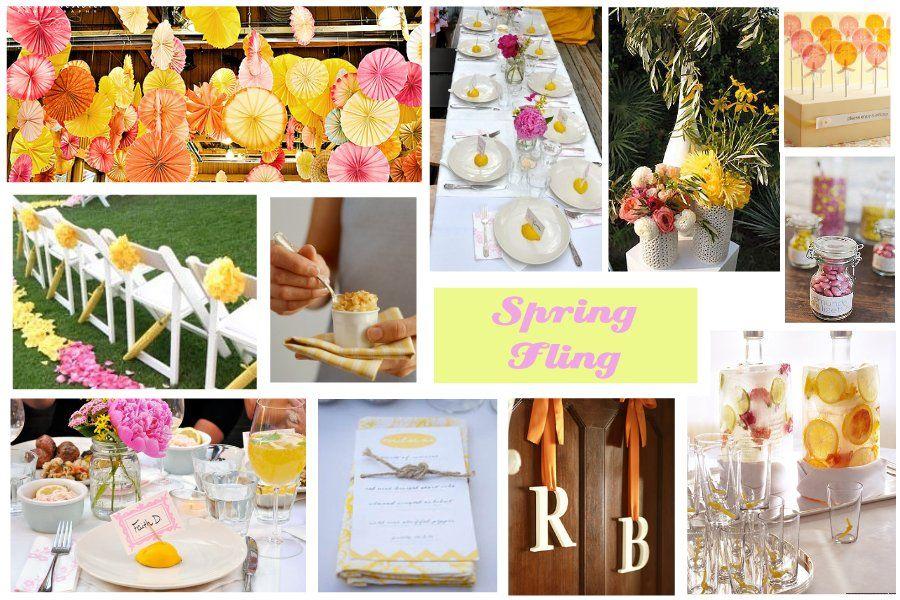 bridal shower themes for spring%0A Spring Fling Bridal Shower Ideas