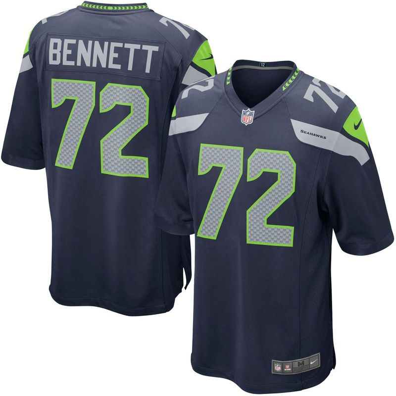 Michael Bennett Seattle Seahawks Youth Nike Team Color Game Jersey - Navy  Blue 38cb10e3b