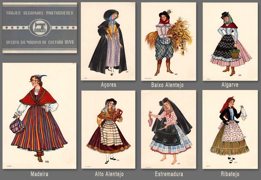 trajes regionais portugueses. Colecção que foi desenhada por Laura Costa 7e470ea6cd2