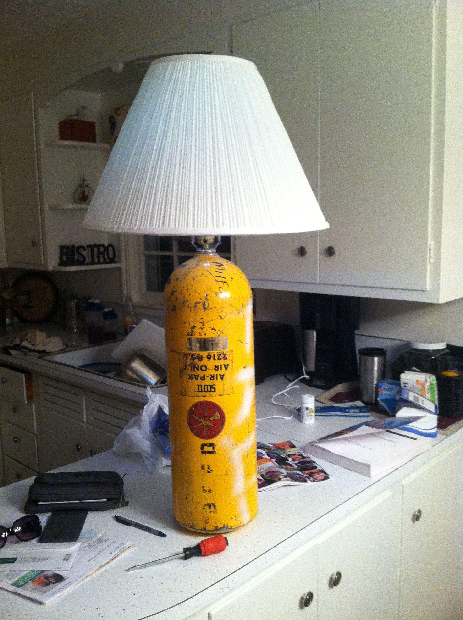 SCBA bottle lamp | FireFighter | Firefighter family, Fire